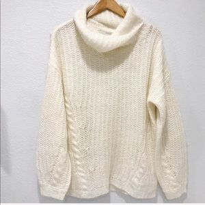 BR Heritage Collection Ivory Mohair Cable Sweater